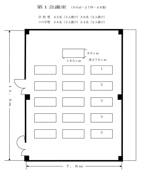 パルトピアやまぐち - 第1会議室